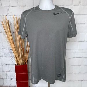 Nike NP Top SS Dry Fitted Tee Shirt Grey Mens Sz M